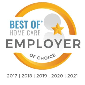 2021 Best of Home Care Employer of Choice Award - 5 Years