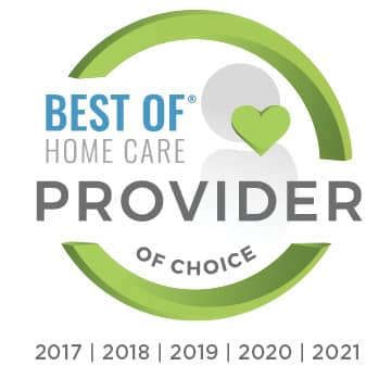 2021 Best of Home Care Provider of Choice - 5 years