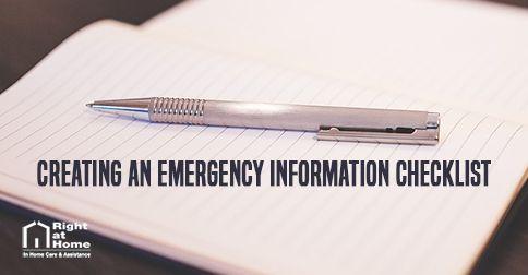 Emergency Health Checklist