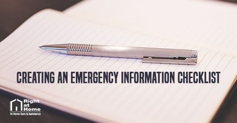 Emergency Health Checklist