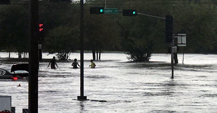 Hurricane Harvey Flooding Houston TX