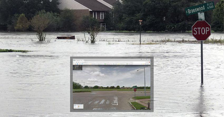 hurricane harvey flooding s braeswood 6500 blvd larkwood dr