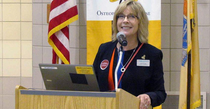 Jane Knapp speaking