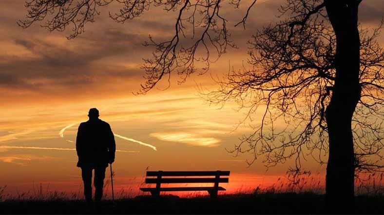 lone old man