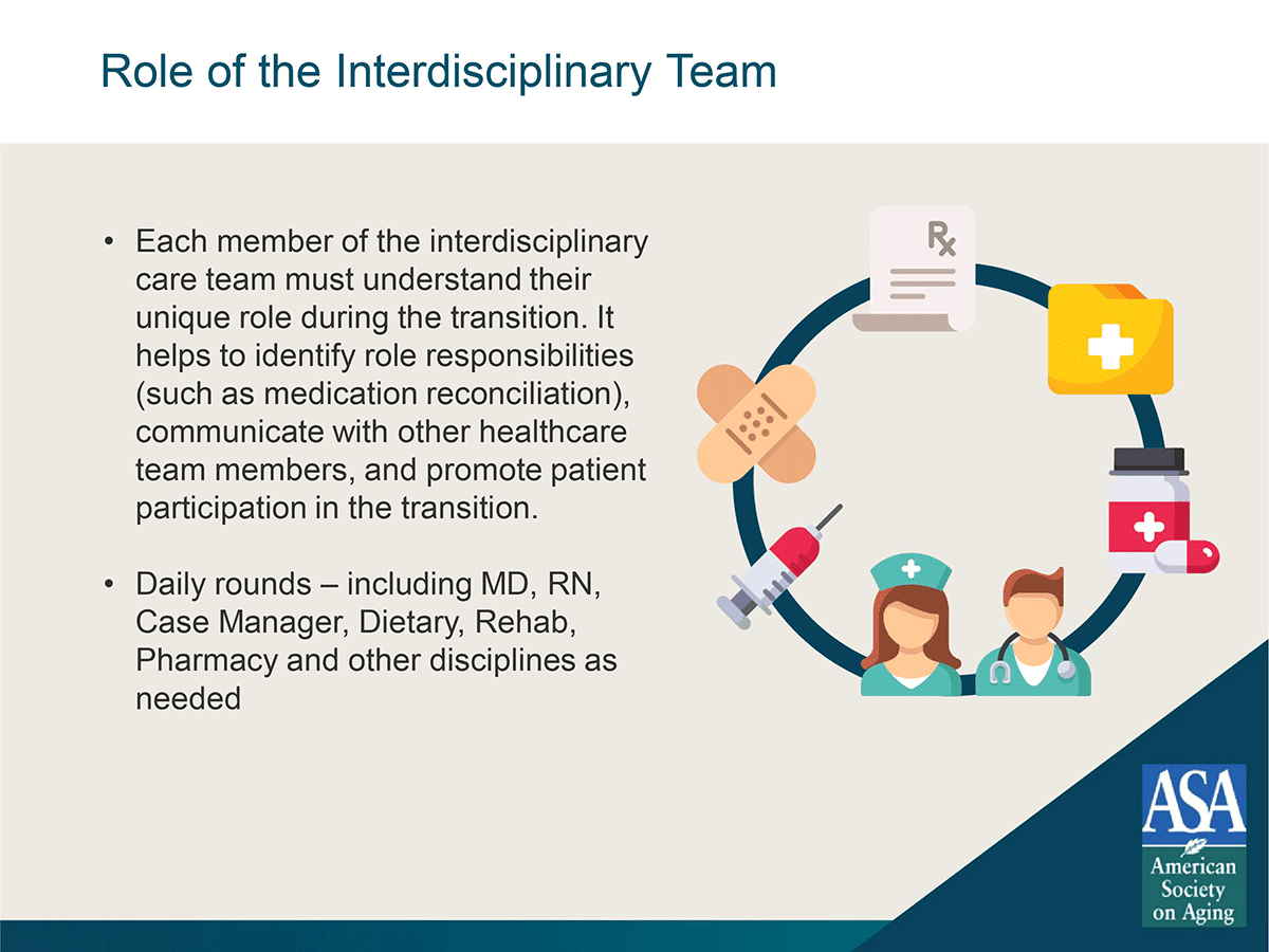 care transitions role of interdisciplinary team