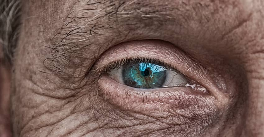 old man eye