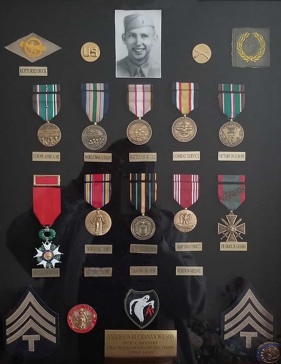 Ghost Army medals and Shadowbox