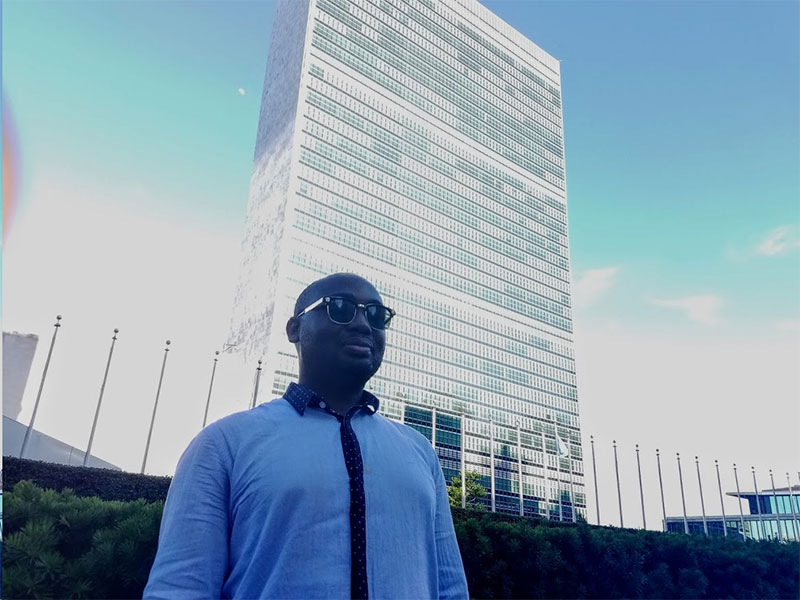 Theo Odaudu at the United Nations