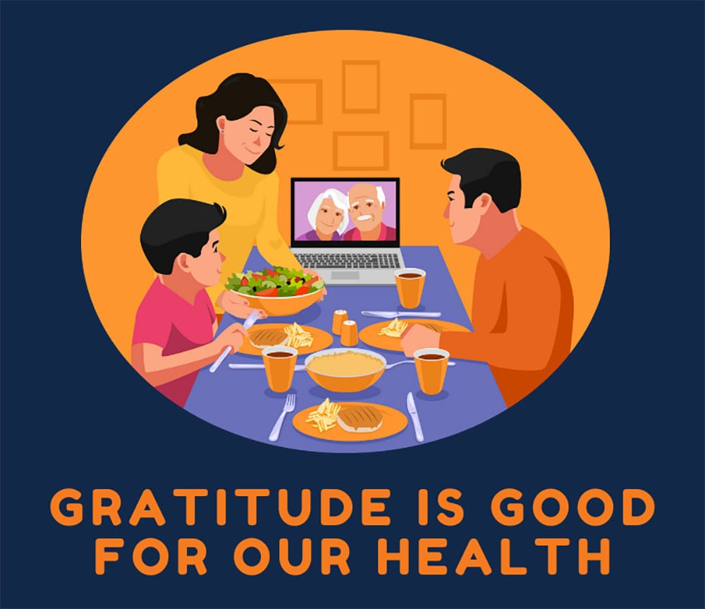 Gratitude is good for our health