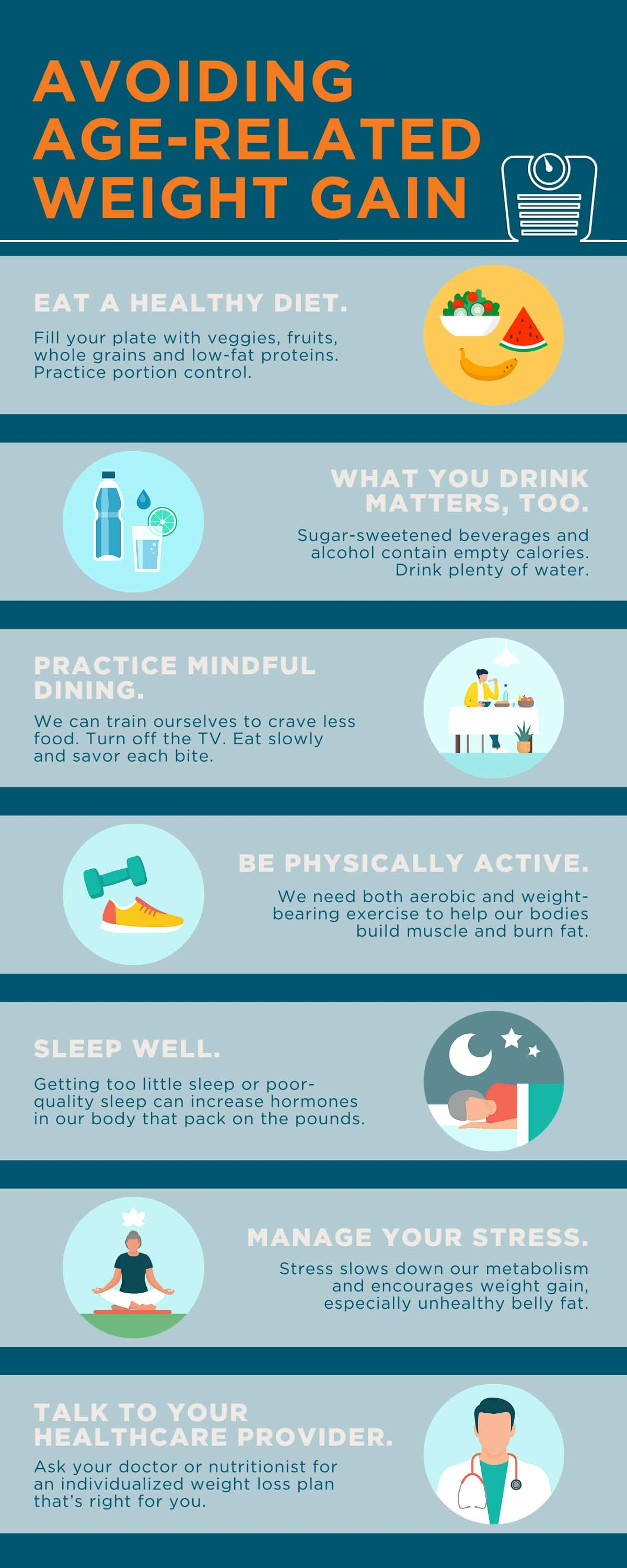 Avoiding Age-Related Weight Gain infographic