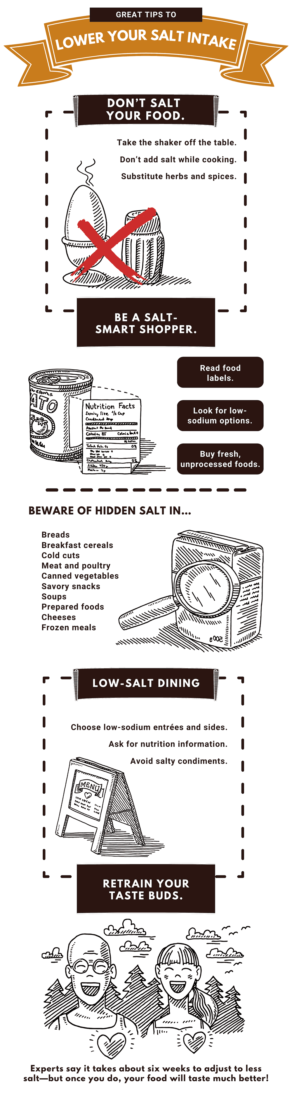 Infographic: Great Tips to Lower Your Salt Intake