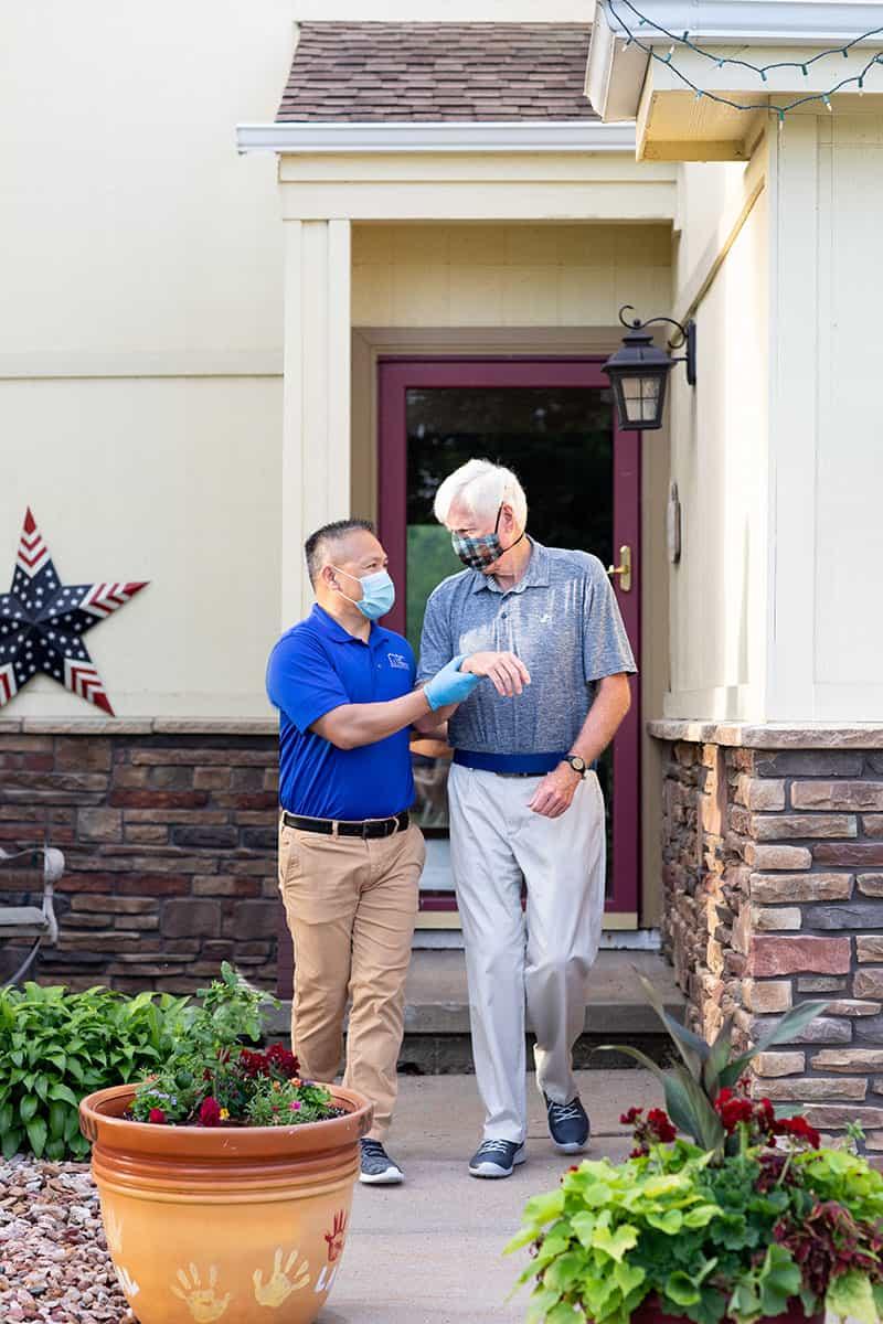 caregiver and senior outing