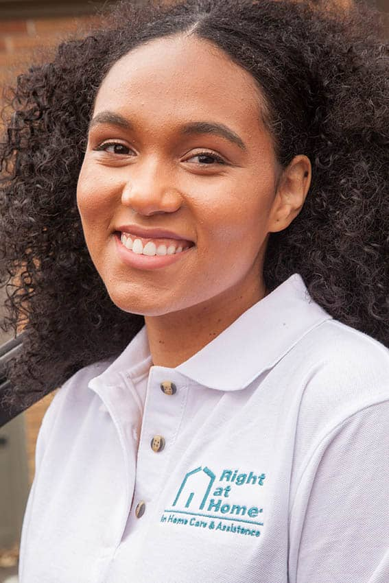 Right at Home caregiver