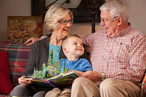 Senior client and family