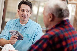 Caregiver Offering Companionship to Senior