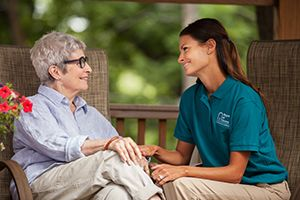 Caregiver Offering Companionship to Senior
