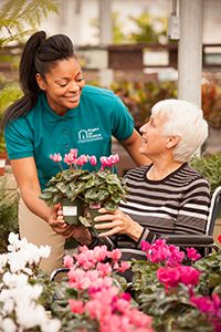 Caregiver caring for disabled adult