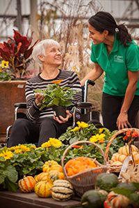 Caregiver caring for disabled adult