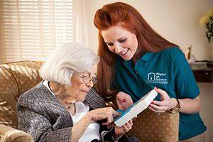 Caregiver helps manage medicine