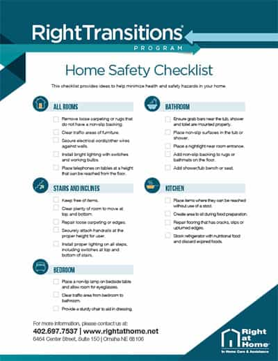 Right Transitions Home Safety Checklist