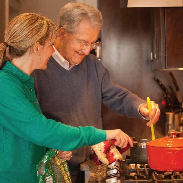 Caregiver cooking