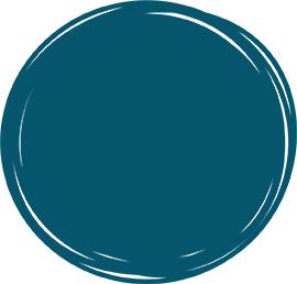 dark blue background circle