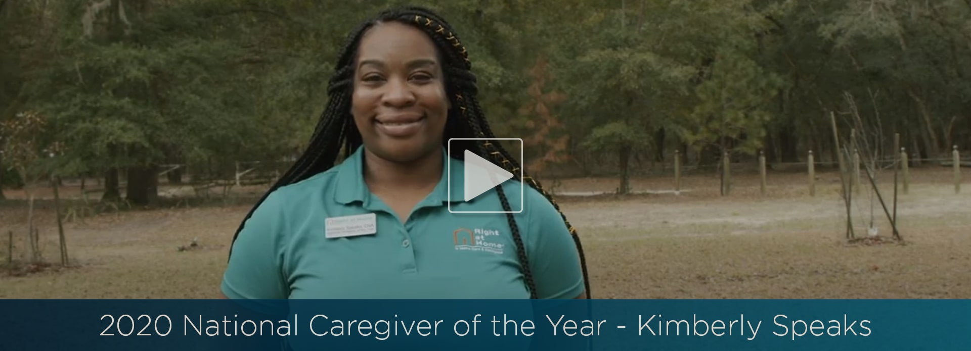 Right at Home 2020 Caregiver of the Year Kimberly Speaks