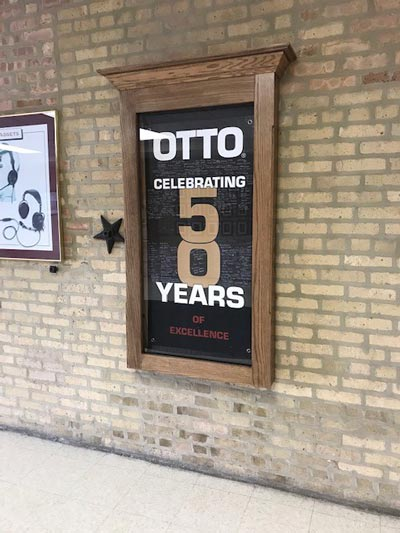 OTTO Engineering 50 Years Sign