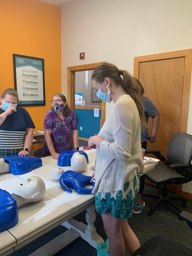 CPR and First Aid Refresher Course for caregivers.