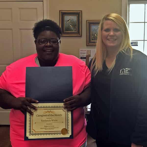 Yuvlanda White, March 2019 Caregiver of the Month