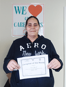January 2019 Caregiver of the Month