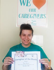 Caregiver of the Month of December 2018