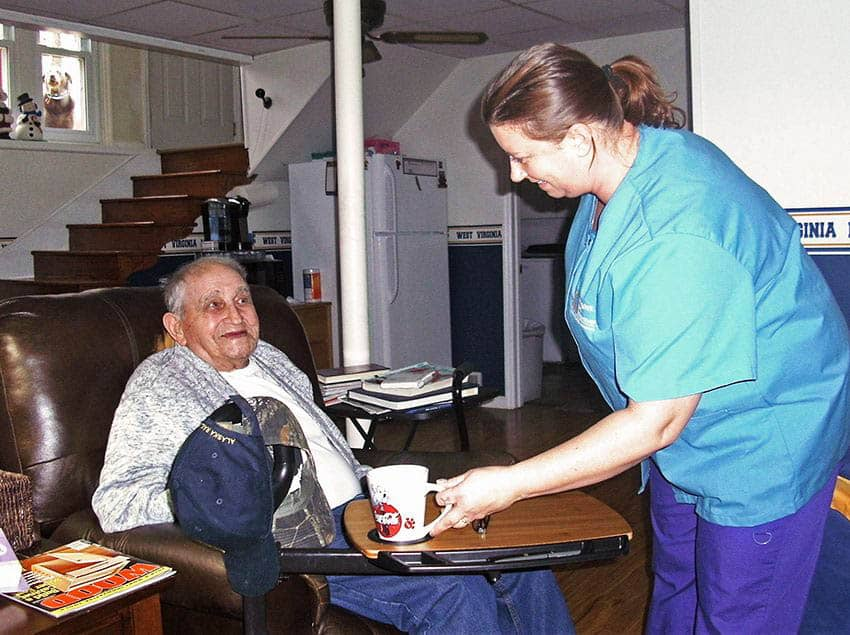 caregiver and client