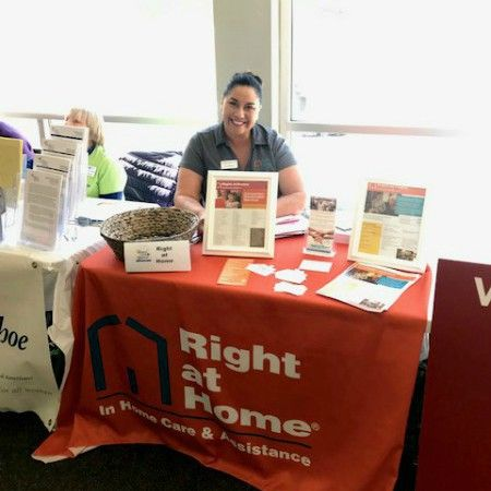 Booth at Older American Month event