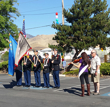 Mountian View Community Health Fair Color Guard