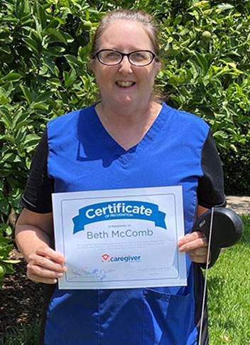 Caregiver Beth McComb