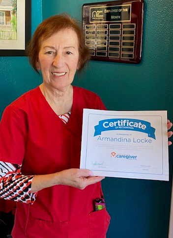 Caregiver Dina Locke