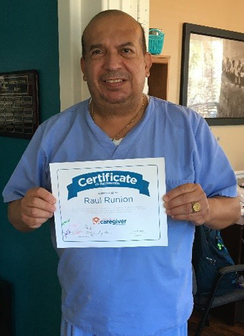 Caregiver Raul Runion