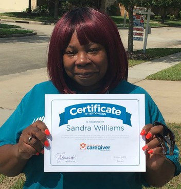 Caregiver Sandra Williams