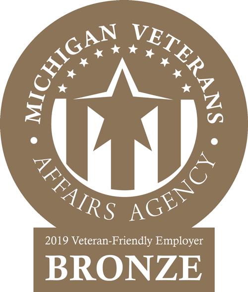 Certified Veteran Friendly Employer Badge
