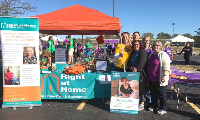 Right at Home Orland Park Alzheimer's Walk