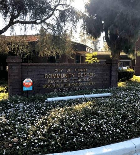 Arcadia Community Center sign