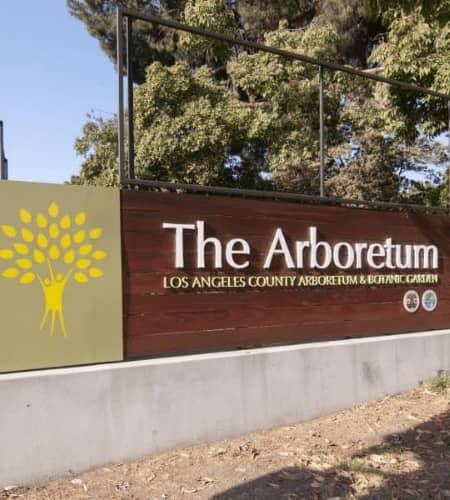 Arboretum Sign in Arcadia, California