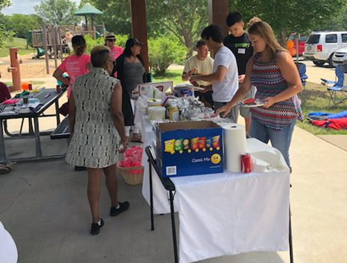 Food at 2018 Caregiver Summer Barbecue
