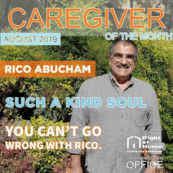 August Caregiver of the Month Sacramento