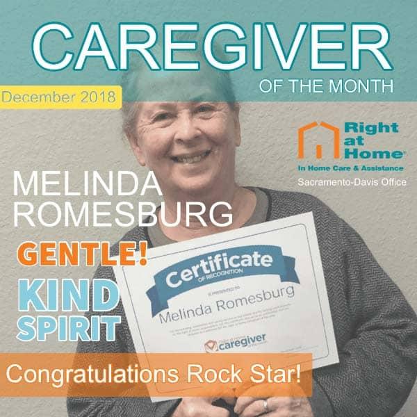 December Caregiver of the Month - Melinsa R.