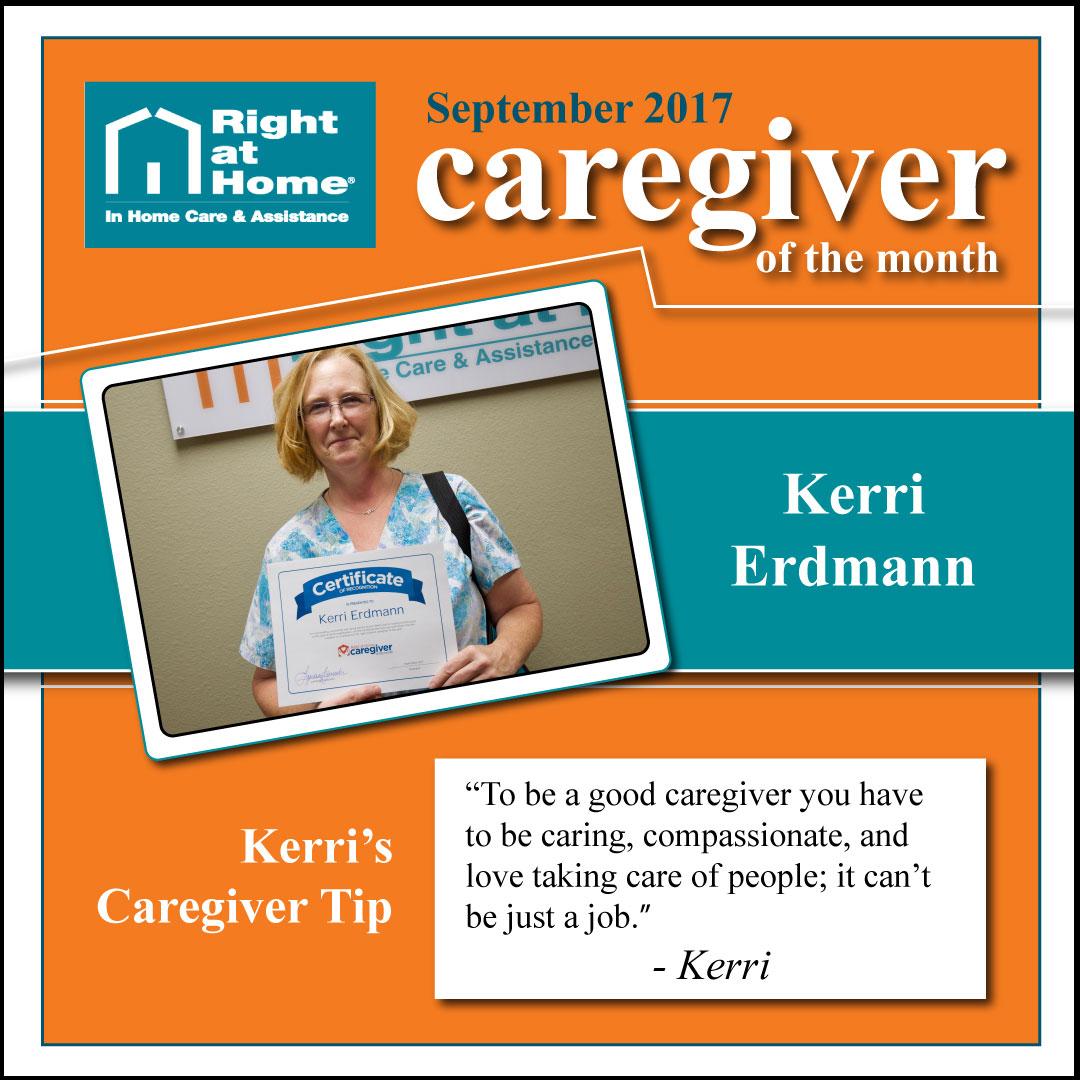 September Caregiver of the Month Kerri Erdmann