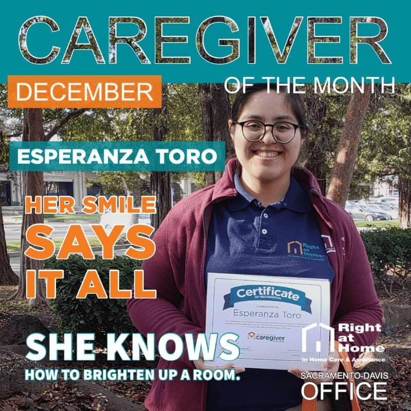 Esperanza Toro - December Caregiver of the Month