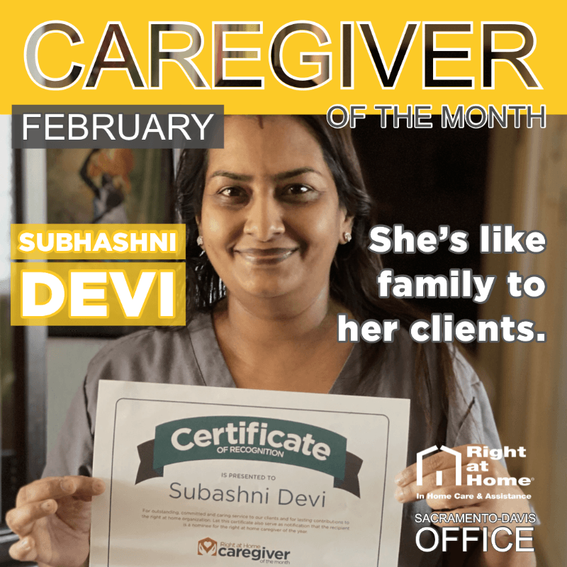 Graphic for February Caregiver of the Month
