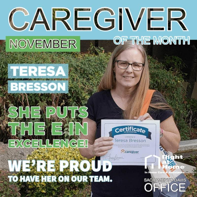 Teresa Bresson - November Caregiver of the Month